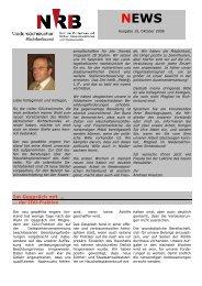 Newsletter Oktober 2008 - NRB