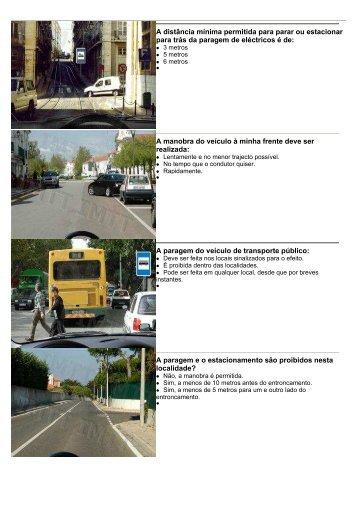 Paragem, estacionamento e cruzamento de veículos - IMTT