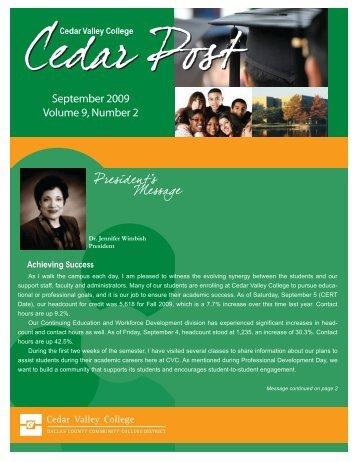 September 2009 - Cedar Valley College