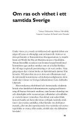 Om ras och vithet i dagens Sverige - Tobias Hübinette