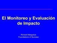 Manejo adaptativo al nivel de proyecto - Eco-Index