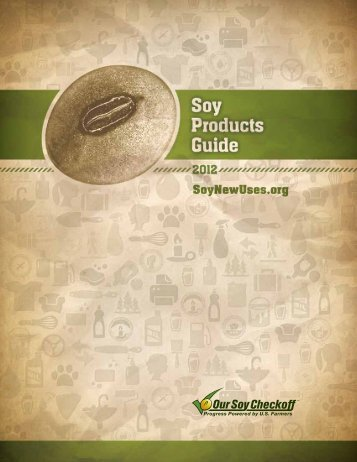 Soy Products Guide - Soy New Uses