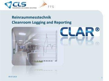 Reinraummesstechnik mit CLAR - einfach UND normkonform
