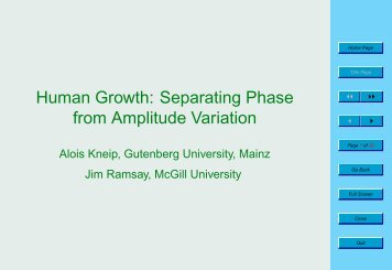 Human Growth: Separating Phase from Amplitude Variation