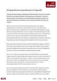 Die Legende lebt weiter: Karwendelmarsch am 27. August 2011