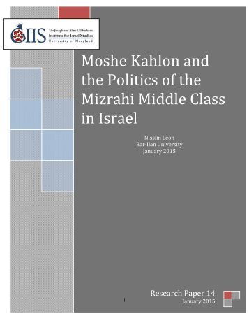 Nissim Leon Research Paper - January 2015