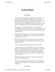 Le livre d'Enoch