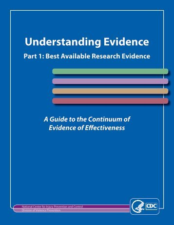 Understanding Evidence - Centers for Disease Control and Prevention