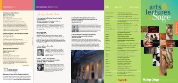 Spring 2013 Arts + Lectures Brochure - The Sage Colleges