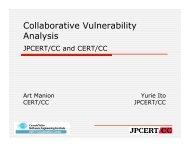 Collaborative Vulnerability Analysis - CERT
