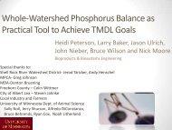 Whole-Watershed Phosphorus Balance as ... - Larry Baker Lab
