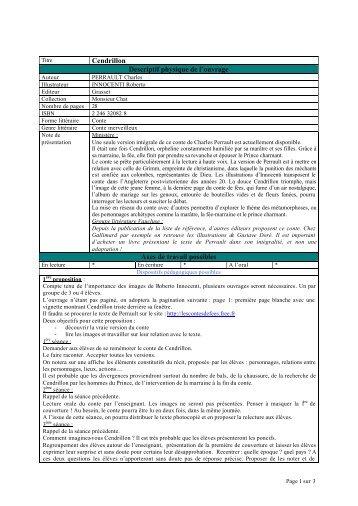 Cendrillon - 1.rtf - Inspection académique de Vaucluse