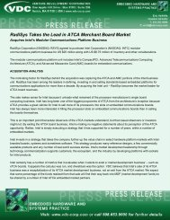 RadiSys Takes the Lead in ATCA Merchant Board ... - VDC Research
