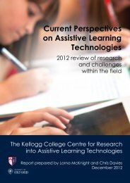 Current Perspectives on Assistive Learning Technologies