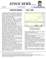 AMAZON MINING - TSXV: AMZ - Verde Potash