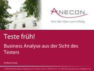 ANECON Präsentation - IIBA Austria Chapter