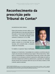 Reconhecimento da prescrição pelo Tribunal de ... - Revista do TCE