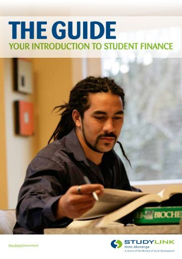 'The Guide - Your Introduction to Student Finance' booklet - StudyLink