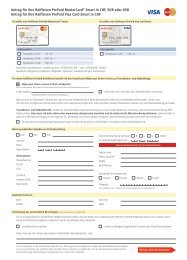 Antrag PrePaid MasterCard Smart/Visa Card Smart - Raiffeisen