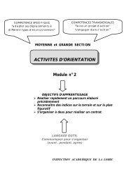 MOYENNE et GRANDE SECTION ACTIVITES D'ORIENTATION ...