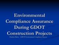 GDOT Environmental Compliance Assurance