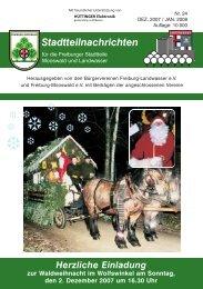 Stadtteilnachrichten Heft 24 - Bürgerverein Freiburg Mooswald ev