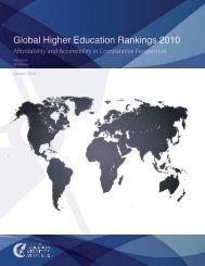 Global Higher Education Rankings 2010 - International Observatory ...