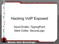 Hacking VoIP Exposed - Hacking Exposed VoIP