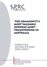 Volunteering in Australia - Social Policy Research Centre