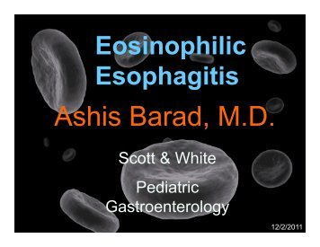 Eosinophilic Esophagitis - Healthcare Professionals