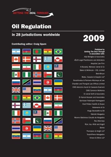 Oil Regulation - Kluge