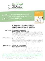 SEMINARE - Bio Verlag Gmbh