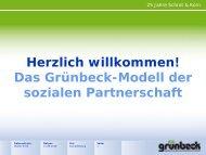 Herzlich willkommen! Das Grünbeck-Modell der sozialen Partnerschaft