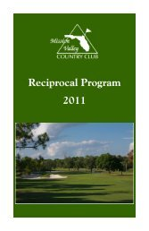 Reciprocal Program 2011 - Mission Valley Country Club