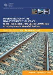 July - September 2005 - Independent Transport Safety Regulator
