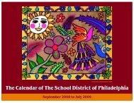 Calendar 2008=9 - The School District of Philadelphia