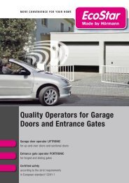 Quality Operators for Garage Doors and Entrance Gates - EcoStar