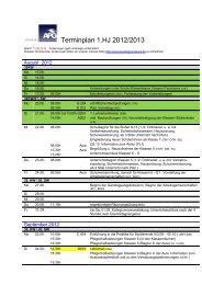 Terminplan 1 - Apostelgymnasium