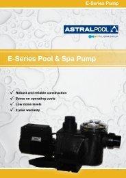 E-Series Pool & Spa Pump - Albatross Pools