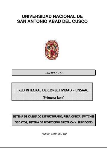 Proyecto UNSAAC - Ingeniería Informática y de Sistemas ...