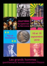 BROCHURE patrimoine.indd - Pays de Montbéliard Agglomération