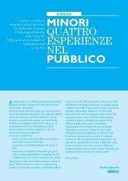 Dossier: Minori. Quattro esperienze nel Pubblico - Ordine degli ...