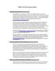 MHDC First Place Program Updates - Missouri Housing ...
