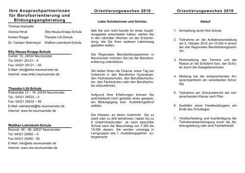 Geschichte der Theodor-Litt-Schule - Elly-Heuss-Knapp-Schule