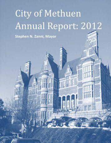 City of Methuen Annual Report: 2012