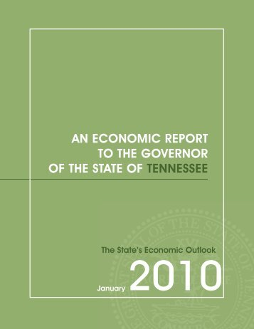 Economic Report to the Governor 2010 - Center for Business and ...