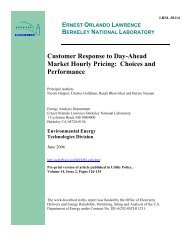 eetd.lbl.gov - Electricity Market and Policy - Lawrence Berkeley ...