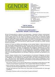 Call for articles - Netzwerk Frauen- und Geschlechterforschung NRW