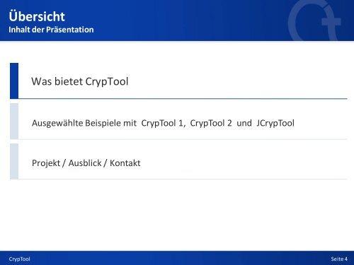 Kryptologie mit CrypTool - Anti Prism Party