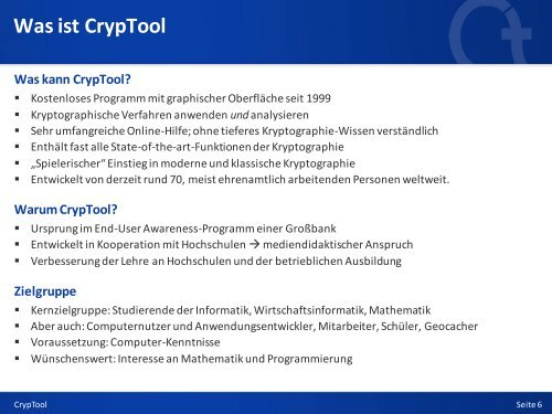 Kryptologie mit CrypTool - Anti Prism Party